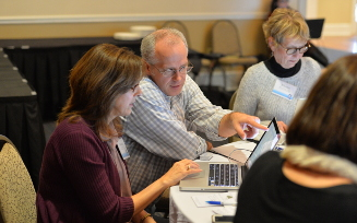 Faculty at OER training workshop